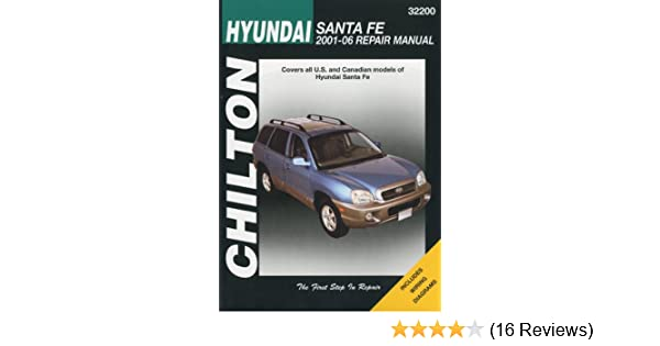 Hyundai santa fe chiltons repair manual chilton 9781563927249 hyundai santa fe chiltons repair manual chilton 9781563927249 amazon books fandeluxe Gallery