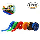 Reusable Silicone Self-Adhesive Building Block Tape, Compatible With Lego Collection Construction, Educational Inspire Imagination Toys, 2 studs (6 Mix Colors)
