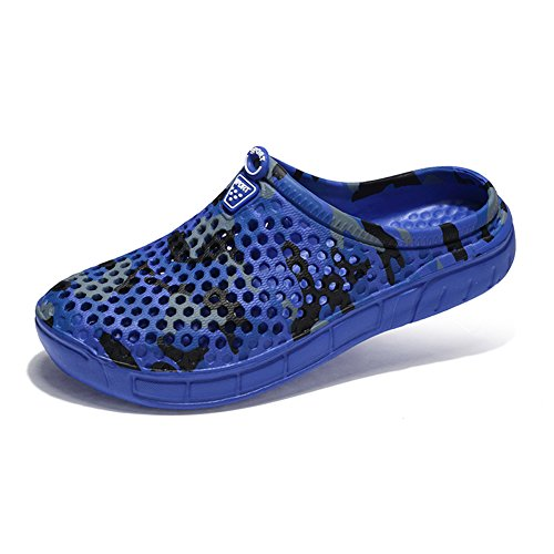 Elwow Men's Breathable Beach Quick Dry Aqua Water Shoes Flip Flop Loafer Slippers Sandals Blue iriD0I