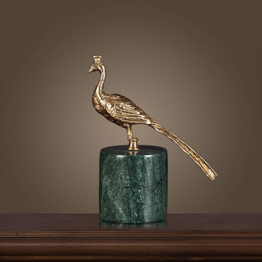 取得 ゴールデンピーコック銅の装飾品は、ホームデコレーションリビングルームの書斎入り口の手作り工芸品のヨーロッパとアメリカの技術では、新築祝いの贈り物と結婚しました 日