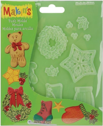 Makin's USA Push Clay Molds, Christmas Decor by Makin's USA