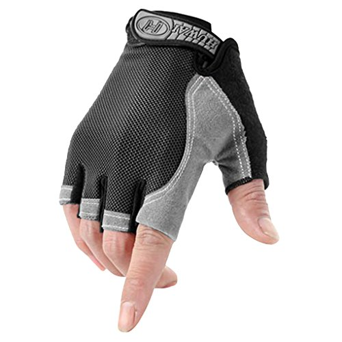 Unisex Bicycle Cycling Gloves Women Men Sports Gym Fitness Workout Exercise Quick Dry Fingerless Gloves Non-slip Shockproof Gel Pad Breathable Motorcycle Mountain Bike Riding Half Finger Biking Gloves