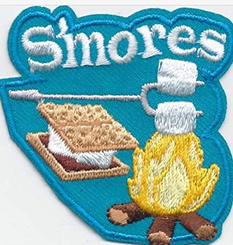 Cub Girl Boy SMORES Embroidered Iron-On Fun Patch Crests Badge Scout Guidesdo