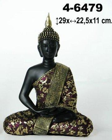 DONREGALOWEB Figura de Resina de Buda en Color Oro y Negro ...