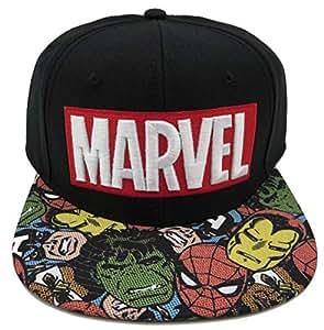 f83a7454d6237 Amazon.com  BIOWORLD Marvel Halftone Black Snapback Baseball Cap ...