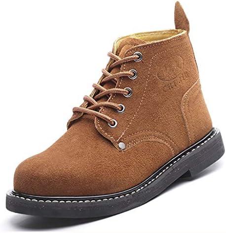 安全靴 スチール足は、労働保険の靴キャップ、耐摩耗性ノンスリップラバーソフト底の靴を、アンチスマッシングアンチピアススチールヘッド(黒、カーキ) (Color : A, Size : 36)