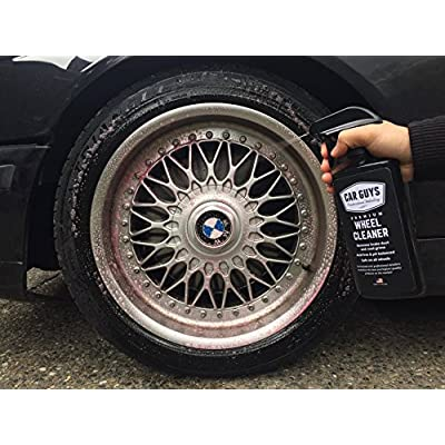Wheel and Tire Cleaner  - Safe for all Wheels and Rims - Works on Alloy Chrome Aluminum Clear-Coated Painted Polished and Plasti-Dipped Rim - Wheel Cleaner by CarGuys: Automotive