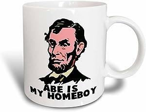 3dRose mug_102594_3 Abe Lincoln Is My Homeboy Magic Transforming Mug, 11-Ounce