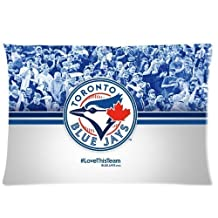Cartrol Cotton & Polyester Custom Pillowcase- Custom Toronto Blue Jays Pillowcase Standard 20x30 (one side) Pillow Cover PLC-1597