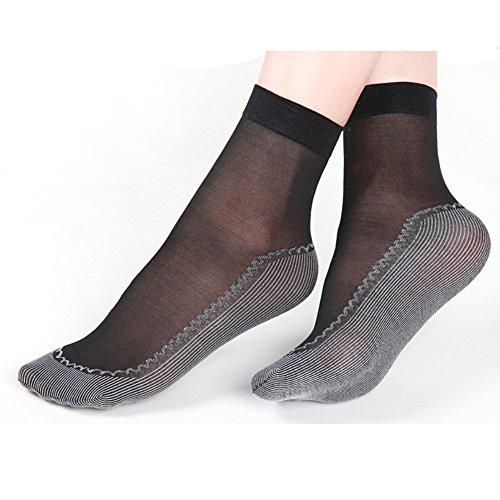 Women%27s+Silky+Nylon+Ankle+High+Tights+Hosiery+Socks+Cotton+Sheer+Socks+6+Pack