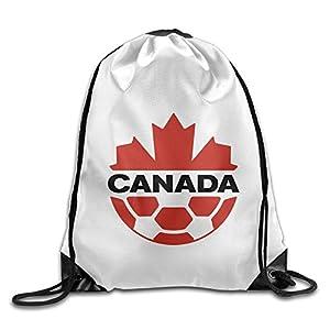 HAOHAO Men's Canadian Soccer Logo Drawstring Backpacks/Bags