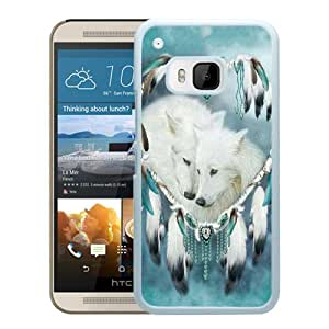 For HTC ONE M9,Wolf Dream Catcher White Protective Case For HTC ONE M9