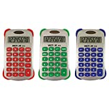 Victor VCT910BN Colorful 8 Digit Handheld Calculator, MultiPk 5 Each