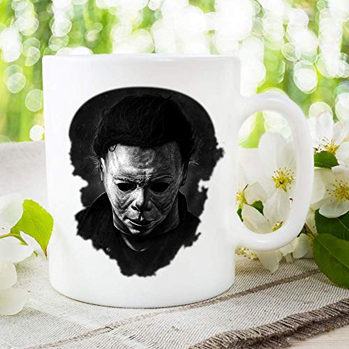 Michael Myers Halloween Movie Killer Mug, gift him movie gifts, boyfriend Horror Serial Killer meyers slasher films, Haddonfield murderer Monster Mania, coffee -
