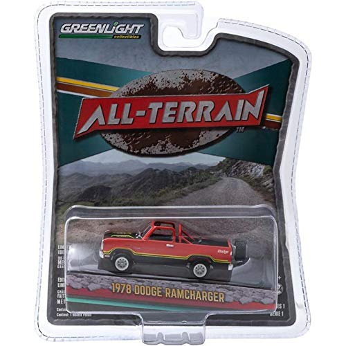 Greenlight 1978 Dodge RAMCHARGER (Orange) All-Terrain Series 1 2015 Collectibles 1:64 Scale Die-Cast Vehicle