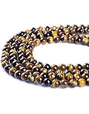 Perles de pierre naturelle œil-de-tigre Ruilong AAAA pour la fabrication de bijoux, 16MM