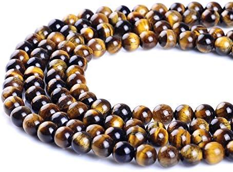 per la creazione di gioielli Ruilong perline in pietra naturale AAAA 12MM occhio di tigre