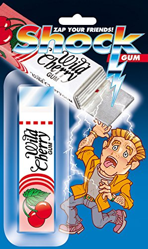 Joker Shock Wild Cherry trick Gum Package 4in Shocking Prank, Pink