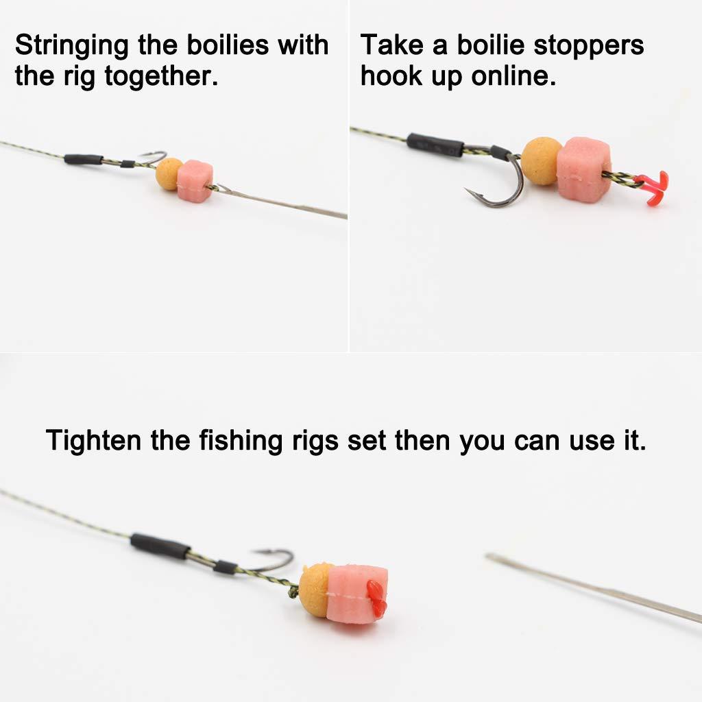 5pcs Plastic Boilie Stopper Fishing Bait Boilie Stops Hair Rig Extender Fishing Tool AOD