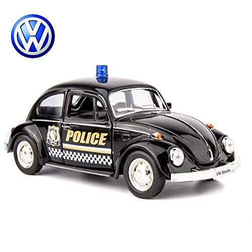 TGRCM-CZ 1:36 Diecast 1967 Beetle Police Car Model Kits to Build for Kids ,Alloy Pull Back Vehicles Toy Cars for Toddlers Kids Boys Girls Gift