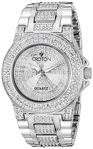 CROTON Women's CN207538RHPV Balliamo Analog Display Quartz Silver Watch (Croton Crystal Bezel)