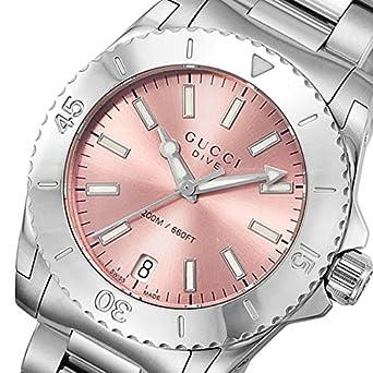 0cb5596d05a3 Amazon   グッチ GUCCI ダイヴ DIVE クオーツ ユニセックス 腕時計 YA136401 ピンク [並行輸入品]    並行輸入品・逆輸入品・中古品(レディース)   腕時計 通販