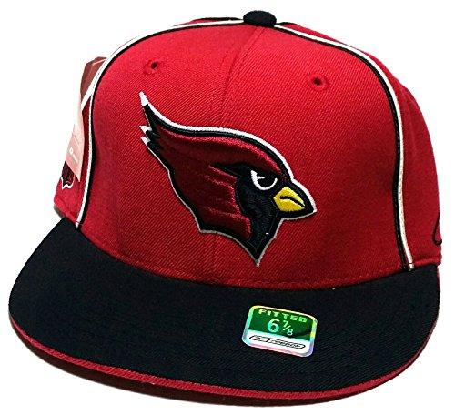 (Arizona Cardinals AZ New NFL Reebok Throwback Red Black Era Fitted Hat Cap 6 7/8)