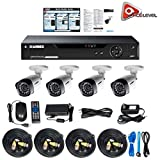 Lorex 4 Channel HD Analog DVR with 1TB HDD, 4x1080p Cameras with 130' Night Vision by Lorex
