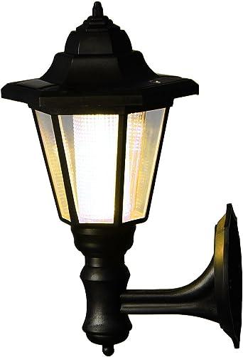 Farol de pared LED para exteriores, funciona con energía solar, para montar en la pared, luces de seguridad para valla de jardín, lámpara hexagonal: Amazon.es: Iluminación