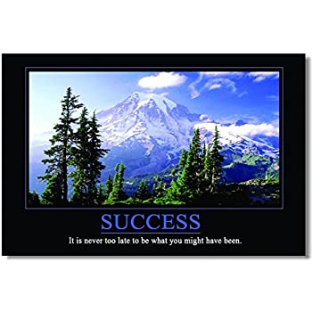 """1x Motivational Self Positive Office Quotes Inspirational Success Teamwork Wall Silk Poster Art Prints for Big Room Hall Office 35.5x23.5"""" (90x60cm) (043)"""