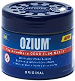 Ozium 804281 Blue Regular (4.5oz) Smoke & Odors Eliminator Gel, Original Scent