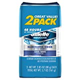 Gillette Endurance Antiperspirant / Deodorant, Cool Wave Clear Gel, 2.85 Ounce (Twin Pack)  Packaging may Vary