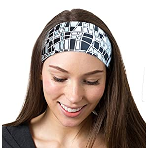 Mosaic Black Headband