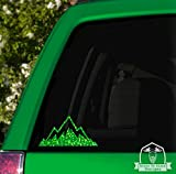 mountain range car decal - Grain To Glass Designs Jagged Mountain Range Specialty Vinyl Car Decal - 10