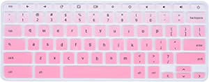 "Lenovo Chromebook Keyboard Cover Compatible with 11.6"" Lenovo Chromebook C330 /Lenovo Flex 11 Chromebook 11.6"" /Lenovo Chromebook N20 N21 N22 N23 / Chromebook N42 N42-20 14""(Gradual Pink)"