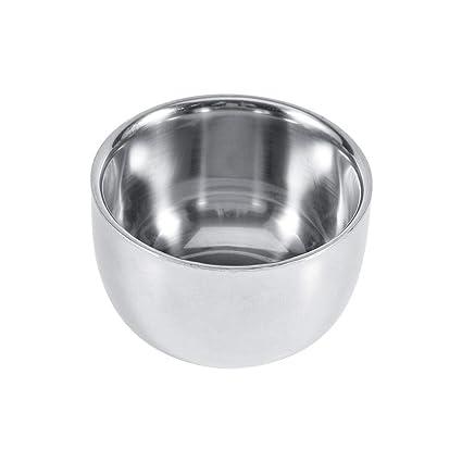Barba Afeitado Bowl Durable Acero Inoxidable Para Hombres Peluquería Crema Jabón Taza Taza Herramienta
