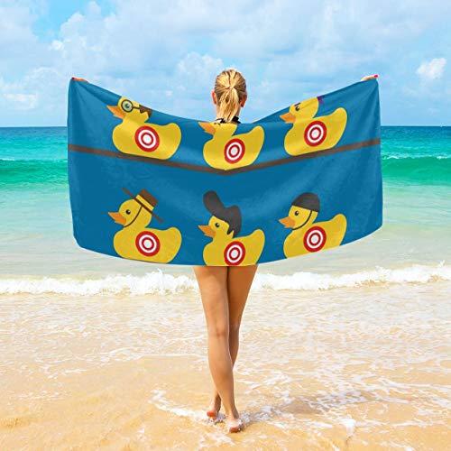 NiYoung Luxury Bath Towels Wash Cloths for Home, Hotel, Spa, Beach Travel - Rubber Yellow Duck Art Towels, Soft Absorbent Shower Bath Towel Extra Large Bathroom Towel - 40X70 inch Duck Jacquard Bath Towel