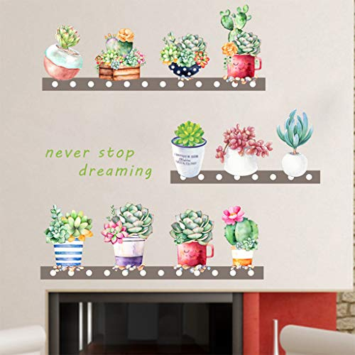 Cartoon Plants Sticker SUJING Removable Vinyl Decal Art