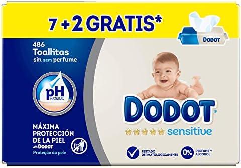 Toallitas para beb/é Dodot Sensitive 18 paquetes de unidades total de 972