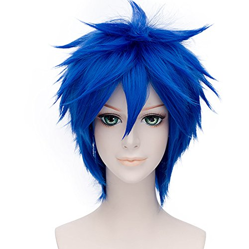 Spiky Wig (Alacos Popular Unisex Short Spiky Natural Sexy Daily Party Anime Cosplay Wigs (Blue))
