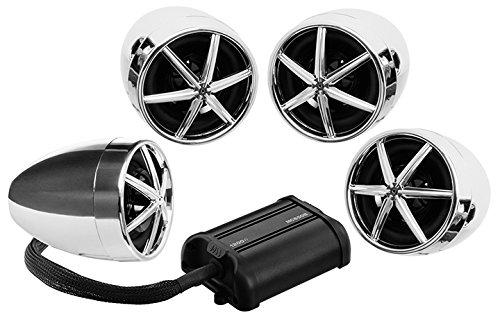 Boss MC650B 1200w Bluetooth (4) Speaker+Amplifier Handlebar System Motorcycle/ATV 1200w Speakers