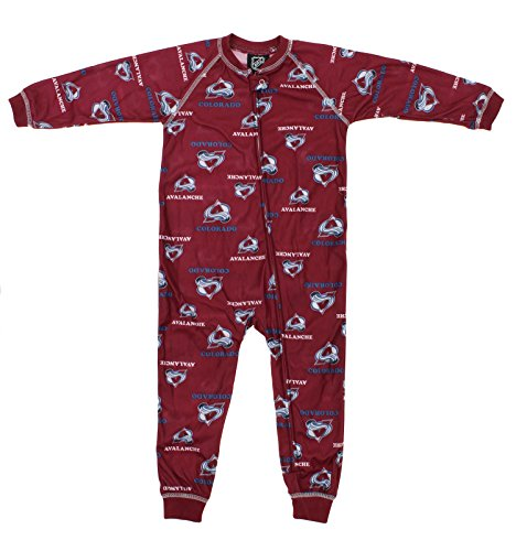 Outerstuff NHL Toddlers Little Boys Full Zip Raglan Logo Print Coverall, Colorado Avalanche