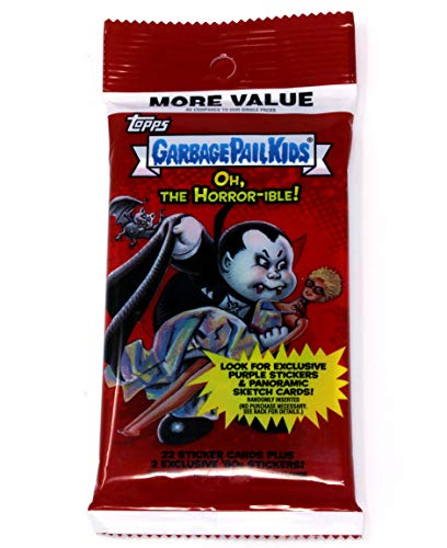 Pail Stickers Garbage (Topps Garbage Pail Kids Oh, The Horror-ible! 22 Sticker Card Pack)