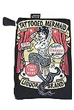 Liquor Brand Cosmetic Bag Tattooed Mermaid Vintage Tattoo Art makeup purse
