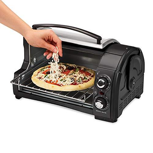 Hamilton Beach Easy Reach Toaster Oven Pizza Maker Electric (Black & Silver Best Value) by Hamilton Beach (Image #2)