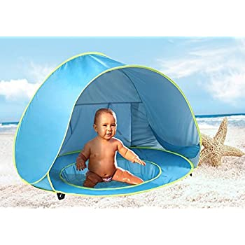 MonoBeach Baby Beach Tent Pop Up Portable Shade Pool UV Protection Sun Shelter for Infant  sc 1 st  Amazon.com & Amazon.com: MonoBeach Baby Beach Tent Pop Up Portable Shade Pool ...