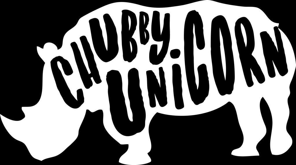Chubby Unicorn Rinoビニールデカールステッカー| Cars Trucks壁Vans Windowsノートパソコン|ホワイト| 5.5 X 3インチ| kcd1818   B076BTTVVC