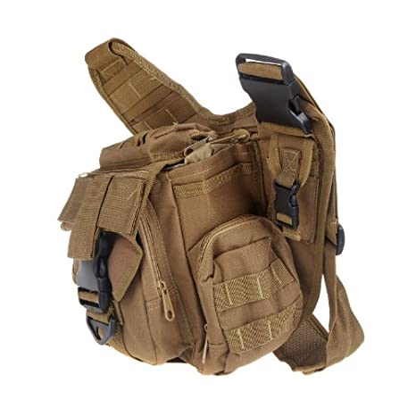 Amazon.com : Docooler Molle Tactical Shoulder Strap Bag Pouch Travel Backpack Camera Military Bag (Earth) : Badminton Sets : Sports & Outdoors