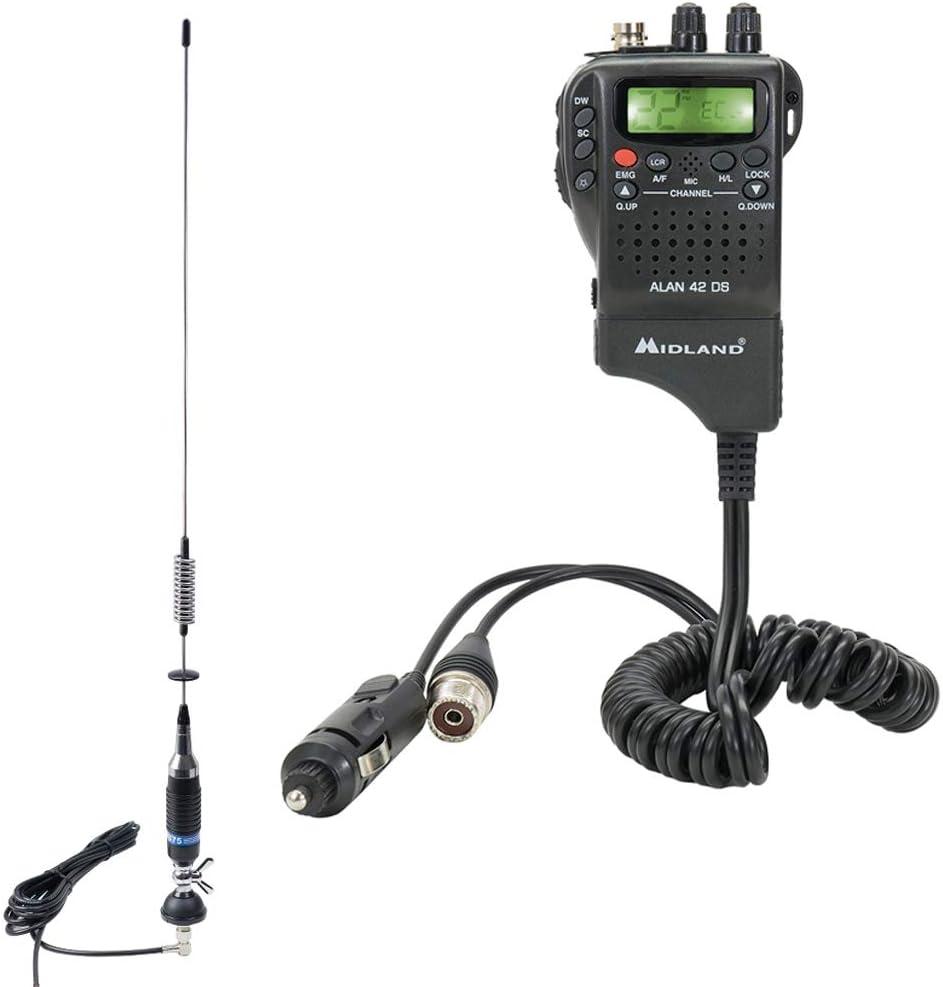 PNI Paket CB Radio Midland Alan 42 DS + Antena S75 con Cable ...