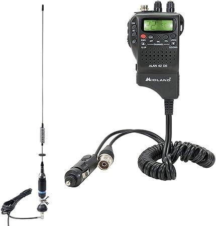 Pni Paket Cb Radio Midland Alan 42 Ds Antenne S75 Mit Elektronik